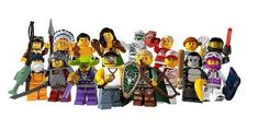 LEGO Minifigure Collection Series 3 LOOSE Set of 16 Mini Figures. You get all all 16 mini figures from the limited edition series three set! Set includes * Hawaii Hula Dancer * Native American Chief with Spear * Samurai with Armor and Katana * Female Tennis Player with Racket * Sumo Wrestler with Trophy * Baseball Player with Bat * Fisherman with Fishing Rod and Fish * Elf with Bow and Shield * Male Rapper with Stereo * Squid Alien with Laser Gun * Gorilla with Banana * Ferrari Driver…