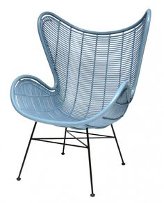 Gorgeous blue Egg Chair from HK Living