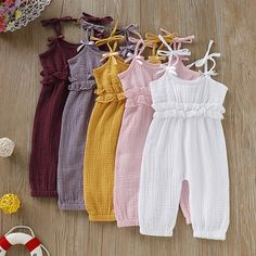 Sommer Baby Mädchen Strap Strampler Overall 0 2 + # . - Jumpsuits and Romper - Baby Baby Girl Dress Patterns, Baby Clothes Patterns, Dresses Kids Girl, Cute Baby Clothes, Kids Outfits, Baby Girl Dress Design, Babies Clothes, Clothing Patterns, Baby Girl Jumpsuit