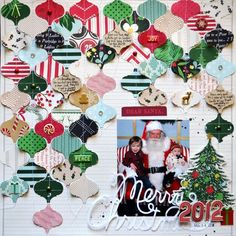 American Crafts Studio Blog: Christmas Layouts by Paige Evans and Patricia Roebuck