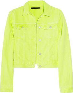 ShopStyle: Christopher Kane Neon stretch-denim jacket