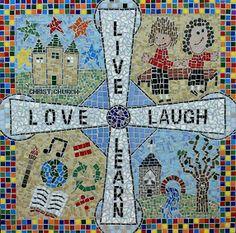 Christ Church Primary School whole school mosaic by TomatoJack Arts