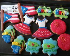 Y para celebrar el descubrimiento de #PuertoRico dos hermosas docenas entregadas el domingo inspiradas en nuestra isla!! 😀 Y de paso se las llevaron como #souvenir a USA. ❤👌☺🍪😍 #mycookiecreations #puertoricanflag #puertoricocookies #galletasdecoradas #galletas #cookies