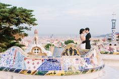 Barcelona, Parc Guell Wedding Photography — EN ROUTE PHOTOGRAPHY