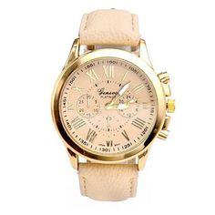 $1.86 (Buy here: https://alitems.com/g/1e8d114494ebda23ff8b16525dc3e8/?i=5&ulp=https%3A%2F%2Fwww.aliexpress.com%2Fitem%2F2015-New-Casual-Quartz-Watch-Luxury-Brand-Geneva-Women-Men-Watches-Leather-Clock-Fashion-Hours-Beige%2F32318482350.html ) 2017 New Casual Quartz Watch Luxury Brand Geneva Women Men Watches Leather Clock Fashion Hours Beige Gold Wristwatch Gofuly for just $1.86