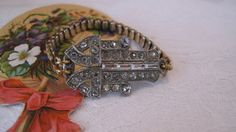 Vintage Art Deco Dress Clip  Expandable Watchband  by WishAnWear, $70.00