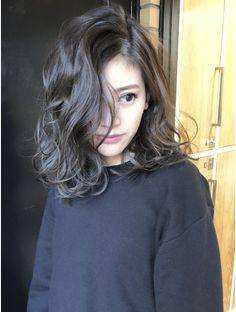 Hair Sandy Greuge x Foreigner Perm Medium Permed Hairstyles, Curled Hairstyles, Cool Hairstyles, Medium Hair Styles, Short Hair Styles, Short Hair Cuts, Digital Perm Short Hair, Asian Hair, Shoulder Length Hair