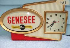 Genesee beer sign clock