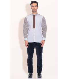 Ashish N Soni Brown Cotton Paisley Printed Shirts, http://www.snapdeal.com/product/designer-wear-brown-cotton-paisley/785993647