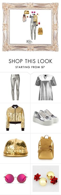 """Metallic Madness: pt.4 (this is the final creation for Metallic Madness)"" by smokeylovebae ❤ liked on Polyvore featuring Yves Saint Laurent, McQ by Alexander McQueen, DKNY, Marc by Marc Jacobs, Moschino, Matthew Williamson and Essie"