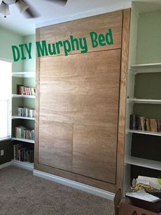 {Junk in their Trunk}: DIY Murphy Bed (Wall Bed) Learn how to make your own murphy bed with these step by step instructions.