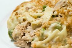 Classic Tuna Noodle Casserole Made Lighter for Weight Watchers