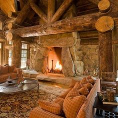 Image detail for -Log Cabin Interior Design . An Extraordinary Rustic Retreat! Cabin Interior Design, Cabin Design, House Design, Interior Ideas, Stone Interior, Log Cabin Homes, Log Cabins, Mountain Cabins, Mountain Living