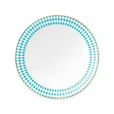 B by Brandie™ Hutton Dinner Plate in Turquoise/Gold