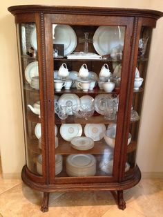 Inherited Antique China Cabinet/Curio From My Great Grandmother. I Am  Wondering What The Value Is. Any Input Is Appreciated!