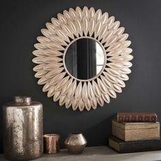 SWAHILI round metal mirror D 51 cm