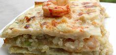 Lasaña de merluza y gambas Quiche, Breakfast, Food, Legumes, Spinach, Recipes, Morning Coffee, Essen, Quiches