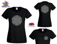 """Flower of Life - Fruit of the Loom ® T-Shirt """"Lady Fit Value Weight T"""" in different colors!"""