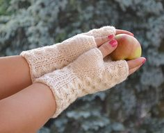 gloves without fingers Knitted mittens gloves in by DosiakStyle