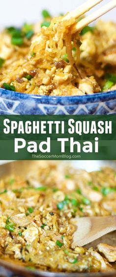 Squash Pad Thai This guilt-free Spaghetti Squash Pad Thai recipe that tastes so amazing, you'd almost swear it's the real thing! This guilt-free Spaghetti Squash Pad Thai recipe that tastes so amazing, you'd almost swear it's the real thing! Asian Recipes, Low Carb Recipes, Vegetarian Recipes, Cooking Recipes, Healthy Recipes, Sauce Sans Gluten, Keto Sauce, Courge Spaghetti, Sin Gluten