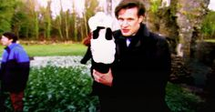 GIF When he was BFFs with this badger. | 31 Times Matt Smith Was The Most Perfect Human Being Ever // Buzzfeed