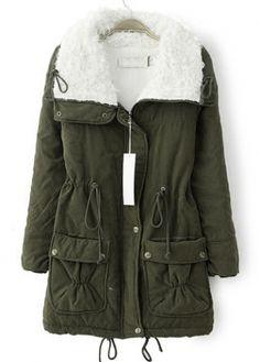 Fabulous Turndown Collar Zipper Fly Long Sleeve Coat