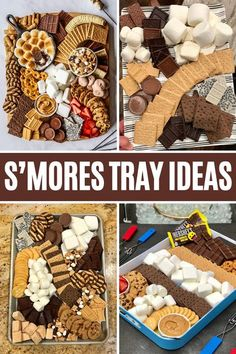 Charcuterie Recipes, Charcuterie And Cheese Board, Party Food Platters, Party Trays, Just Desserts, Dessert Recipes, Dessert Tray, Chocolates, S'mores Bar