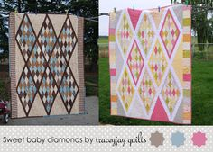 Moda Bake Shop: Sweet Baby Diamonds Quilt. Jelly roll.