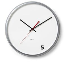 M Co Wall Clock Five O'Clock // i seriously want to be able to design my own clocks!