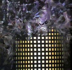 """""""Ordine caos 2"""" Tecnica: acrilico su tela cm  100x100 Anno: 2014"""