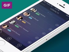 Contacts Screen Animation by Artem Borysenko for Heyllow