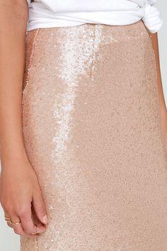 Blush Sequin Skirt