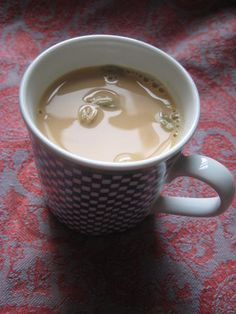 Yemeni Tea is similar to the tea consumed in other Arab countries. This recipe is for milk tea, a very sweet black tea spiced with cardamom and cloves added to condensed milk. Let the milk boil lightly on the stove for a few minutes to develop the flavor. Enjoy!