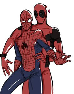SPIDEYPOOL FTW by DeadChemicalRomance Some Spideypool for my NEEDS AND FEELS OKAY yes spideypool is good