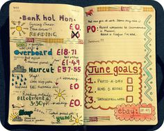 Moleskine planner, week 22 by MsLogica, via Flickr