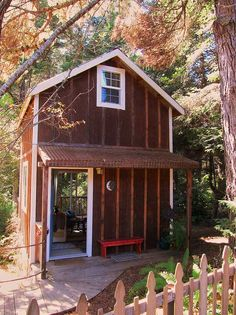 Mendocino Rental We recently took a vacation on the Mendocino coast in California and rented what I would call a tiny house on VRBO. It's listing number is #370975. The house is a 12 x 12 footprint with two stories, the bathroom is in a separate structure about 10 feet away.