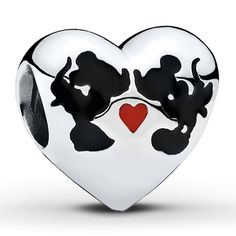Pandora Disney, Minnie and Mickey Kiss Charm $55