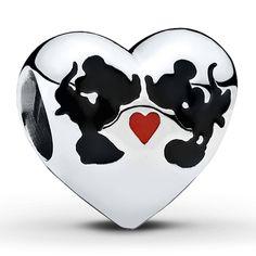 Pandora Disney, Minnie and Mickey Kiss Charm $55