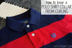 How to care for a polo shirt so that the collar doesn't curl or crease!  via MakelyHome.com
