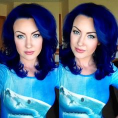 Custom Pravana Blue Vivids and Pastel mix on myself!
