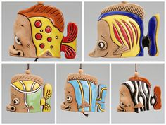 Ceramic Animal Bells : Various Fish. by Molinukas on Etsy