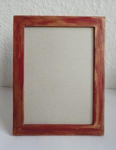 Holzbilderrahmen rot-gold