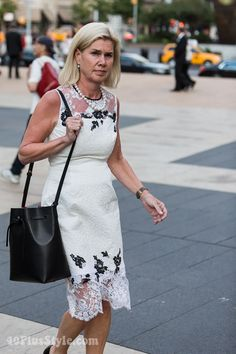 40+style at the New York Philharmonic opening ceremony! | 40plusstyle.com