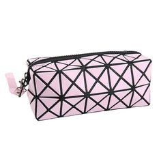 Fashion Geometric Zipper Cosmetic Bag Women Laser Flash Diamond Leather Makeup Bag Ladies Cosmetics Organizer New Trend 2016  #makeup #fashion #hair #jewelry #cute #model #styles #beauty #style #beautiful #jennifiers #outfitoftheday #purse #stylish #outfit