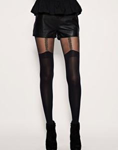 House Of Holland For Pretty Polly Chain Suspender Tights  $26.86