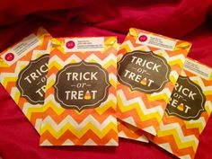Trick or treat bags for parents with Perfectly Posh samples