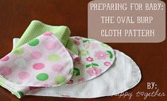 The Oval Burp Cloth Pattern by ohsohappytogether, via Flickr