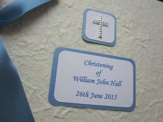 Personalised Christening Album, £17.99 available from:    https://folksy.com/shops/AnyOccasion