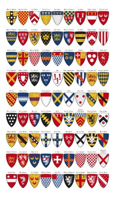 Charles' Roll - Panel 5 - shields 325 through 405 - Category:Charles' Roll - Wikimedia Commons