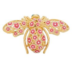 Jewellery - Joan Rivers - - Online Shopping for Canadians Joan Rivers Jewelry, Bees And Wasps, Bee Brooch, Cherry Blossom, Brooches, Jewelery, Vintage Homes, Bumble Bees, Bugs